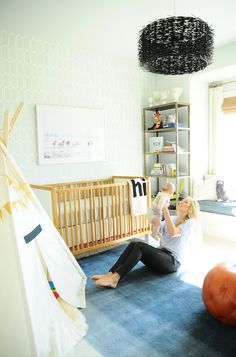Eclectic Nursery - If I had the design asthethic, I would love to have a nursery something like this
