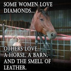 Some Woman Love Diamonds... Others Love A Horse, A Barn & The Smell Of Leather!
