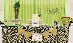 Jungle, Safari, Animals Baby Shower Party Ideas | Photo 7 of 19 | Catch My Party