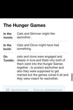 No but really, Tumblr has really gone off the deep end with that whole Cato/Clove romance thing.
