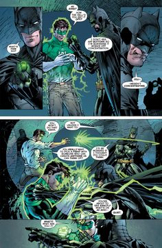 """Justice League New 52 Issue 1 Batman and Green Lantern """"What's this do?"""""""