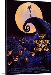 Tim Burtons The Nightmare Before Christmas (1993) Solid-Faced Canvas Print