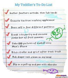 A Secret Insight To A Toddler's To-Do List