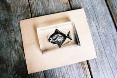Fish Stamp - Fish Rubber Stamp - Seafood Rubber Stamp, Ocean Rubber Stamp