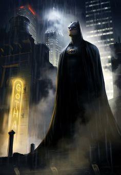 Awesome illustration of Batman In Gotham Batgirl, Nightwing, Batwoman, Comic Book Characters, Comic Book Heroes, Comic Character, Comic Books, Comic Art, Foto Batman