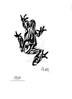 Tribal Frog Tattoo Designs Tribal frog by mandaart73