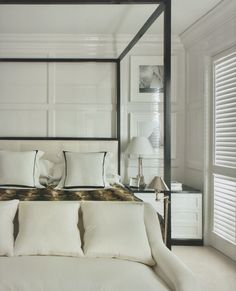Layered neutrals give this bedroom a peaceful feel - Liked @ Homescapes Home Staging San Diego www.homescapes-sd.com  #whitebedroom