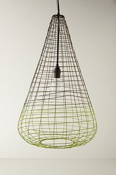 Small Woven Wire Pendant Lamp #anthropologie