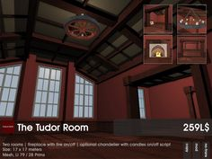 Tomorrow starts the first challenge. Theme in February was Tudor, so this our item:    The Tudor Room Skybox. A two room skybox with a footprint of 17x17meters. LI 79/28 Prims.     In the package included is a chandelier.    Here's your cab to 22769 ~ [bauwerk]:  http://maps.secondlife.com/secondlife/22769/100/124/22