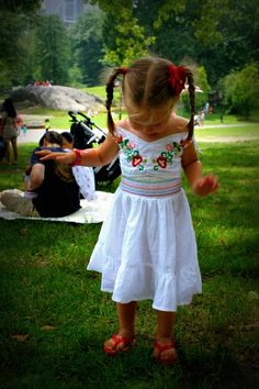 LoLovie: Re-fashion: Toddler dress from an adult blouse