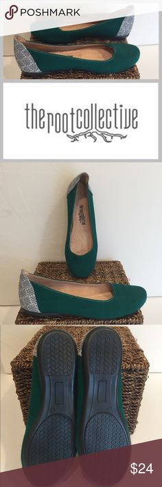 The Root Collective NEW $98 Handmade Emerald Flats A socially conscious company that creates jobs for those in need around the world, The Root Collective designs and creates handmade shoes in fashionable styles. Check out their website! These shoes are new without tags and retail for $98. Handcrafted quality product.  emerald green The Root Collective Shoes Flats & Loafers