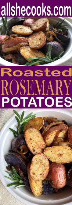Easy Rosemary Roasted Potatoes are colorful and make a healthier for you side dish for dinner. Learn how to make this easy recipe.