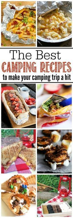 Awesome camping recipes for camping trips or backyard campfires. Must try these for summer! (Camping Hacks Food)