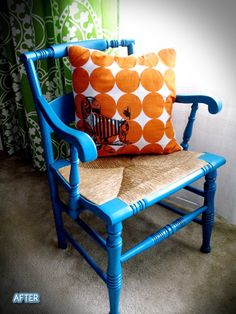 You could use fabric ink to add a cool accent to your throw pillows.