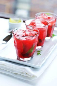 Watermelon Mojito // Red Drink Idea for 4th of July