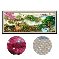 DIY 5D AB Drills Diamond Painting Great Wall