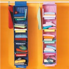 get school clothes ready for the week - great idea
