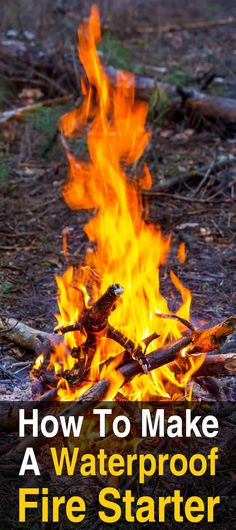 How to Make a Waterproof Fire Starter. This video will show you how to make a waterproof fire starter that is convenient to carry around. #Urbansurvivalsite #Firestarter #DIY