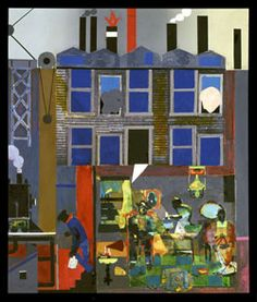 Romare Bearden cityscapes-- (*ask students, rather, to depict their own communities or neighborhoods)