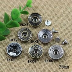 Click Our Letters Rivets Gallery to See More Style and Color . Shank Button, Make Color, Metal, Shake, Washer Necklace, Cufflinks, Giant Tree, Jeans, Denim