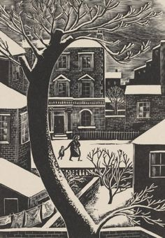 London Snow Iain Macnab of Barachastlain Wood Engraving & Drawings Art And Illustration, Illustrations, Linocut Prints, Art Prints, Block Prints, London Snow, London Art, Tinta China, Wood Engraving