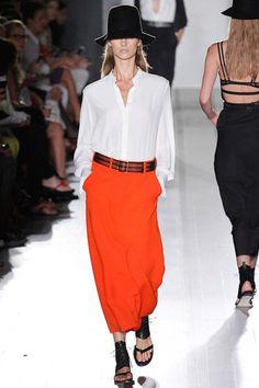 Victoria Beckham Spring 2013  What a great skirt- love the color, pockets and slouchy fit.