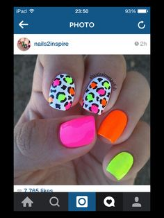 bright summer nails designs 77 Bright Neon Nails to Try This Summer Neon Nail Art, Neon Nails, Love Nails, Diy Nails, Pretty Nails, Bright Nail Art, Bright Summer Gel Nails, Bright Nails Neon, Summer Toe Nails