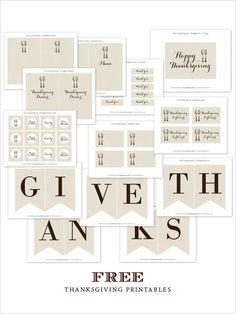 Free Thanksgiving #printables for your holiday table. #thanksgivivingtips