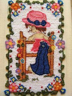 Aprende cómo hacer el bordado ruso con la aguja mágica ~ Mimundomanual Punch Needle Kits, Sarah Kay, Crochet Carpet, Latch Hook Rugs, Cross Stitch Samplers, Punch Art, Rug Hooking, Beautiful Paintings, Fiber Art