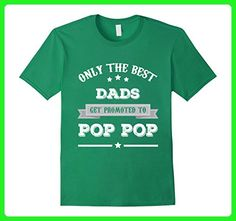 Mens Men's Only The Best Dads Get Promoted To Pop Pop Grandpa 2XL Kelly Green - Relatives and family shirts (*Amazon Partner-Link)