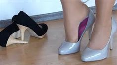 Suede Black or Patent Gray - High Heels for Homework Grey High Heels, Hot Heels, Suede Shoes, Sexy Women, Pumps, Legs, Female, Homework, How To Wear