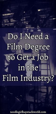 Do you need a film degree to get a job in the film industry? #film #filmschool #filmdegree