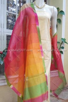 Elegant Woven Handloom Maheshwari Dupatta