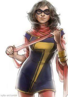Marvel (Kamala Khan) by Risa Hulett Ms Marvel Captain Marvel, Ms Marvel Kamala, Marvel Art, Marvel Heroes, Marvel Characters, Marvel Comics, Marvel Women, Marvel Girls, Avengers Girl