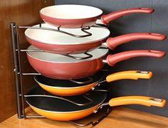 Pan Organizer Rack Bronze Holder Storage Kitchen Cabinet Pantry Shelves Cupboard | Home & Garden, Kitchen, Dining & Bar, Kitchen Storage & Organization | eBay!