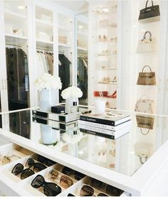Walk-In Closets. Large or small, a walk-in closet is a room all its own. A high-quality door and drawers, installed accessories, finishes, lighting, and layout options create a custom-designed and organized space that is a joy to use every day. #walk #in #closet #ideas