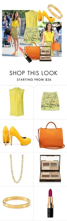 """""""Get the look Leighton Meester"""" by saris080 ❤ liked on Polyvore featuring Equipment, Related, Michael Antonio, Dolce&Gabbana, Stephanie Kantis, Charlotte Tilbury, Kate Spade, Bobbi Brown Cosmetics, floral and leightonmeester"""