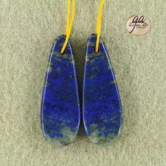 EA12706#  Beautiful Lapis Lazuli Earrings Bead, Natural Genuine Lapis Lazuli Gemstone Earring Beads Size :  36x13x4mm / Weight  8 g