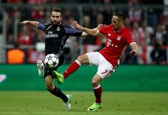 Dani Carvajal Photos Photos - Franck Ribery #7 of Muenchen and Dani Carvajal of Real Madrid battle for the ball during the UEFA Champions League Quarter Final first leg match between FC Bayern Muenchen and Real Madrid CF at Allianz Arena on April 12, 2017 in Munich, Germany. - FC Bayern Muenchen v Real Madrid CF - UEFA Champions League Quarter Final: First Leg