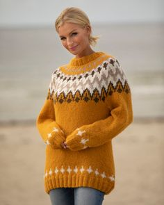 Genser Tia   Knittingroom Fair Isle Knitting, Hand Knitting, Knitting Patterns, Pullover, Sustainable Clothing, Drops Design, Slow Fashion, Autumn Winter Fashion, Merino Wool