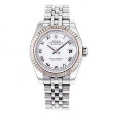 Rolex DateJust 179174 Stainless Steel & 18k Gold Automatic Wrist Watch for Women #Rolex #LuxurySportStyles