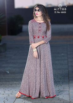 Having fabric viscose. The ethnic pattern for the kurti adds a sign of magnificence statement with a look.A Kurti Brand by Khantil Group Kurti Neck Designs, Kurta Designs Women, Kurti Designs Party Wear, Blouse Designs, Indian Gowns Dresses, African Fashion Dresses, Fashion Outfits, Printed Gowns, Designs For Dresses