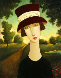 Flora in Devon by Danny McBride Art Beat, Danny Mcbride, Watercolor Projects, Commercial Art, Colorful Paintings, Illustrations, Woman Painting, Cute Illustration, Face Art