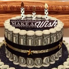 Money Bouquet Discover Money Cake 1 Tier Graduation Cake Birthday Congratulations Engagement Retirement Accomplishment For Any Special Occasion! Birthday Money Gifts, Graduation Gifts, Communion, Cake Paris, Military Welcome Home, Money Bouquet, Birthday Congratulations, Money Cake, Welcome Home Gifts