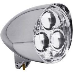 "CHROME 5 3/4"" LED HEADLIGHT ASSEMBLY 2001-0859 - LCS Motorparts"