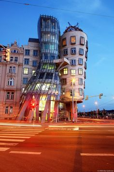 The Dancing House or Fred and Ginger is the nickname given to the Nationale-Nederlanden building in Prague, Czech Republic, at Rašínovo nábřeží (Rašín's riverbank
