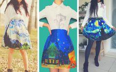 ¡Puedes llevar el arte contigo a todos lados!Si eres amante de la moda y del arte, ¡estas increíbles prendas son perfectas para ti!En Indonesia están creando faldas y vestidos que llevan estampados verdaderas obras de arte, que realmente te van a impresionar.¡Mira de qué se trata!¡Están fuera de este mund