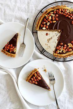 Chocolate Peanut Butter Pretzel Tart | Girl Versus Dough @girlversusdough