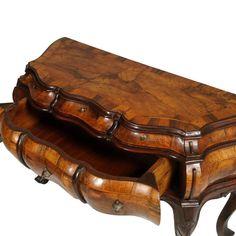antik bútor, kis szekrények Low Dresser, Walnut Burl, Chest Of Drawers, Venetian, Vintage Designs, Baroque, Minis, Hand Carved, Solid Wood