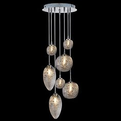 """Cosmos Multi-Light Pendant by Oggetti - Artful but without adding other colors...this is 10.5"""" dia. at the top and would be perfect in the Powder.  $1309 - Pinning as I work on pricing of of our other selections..."""